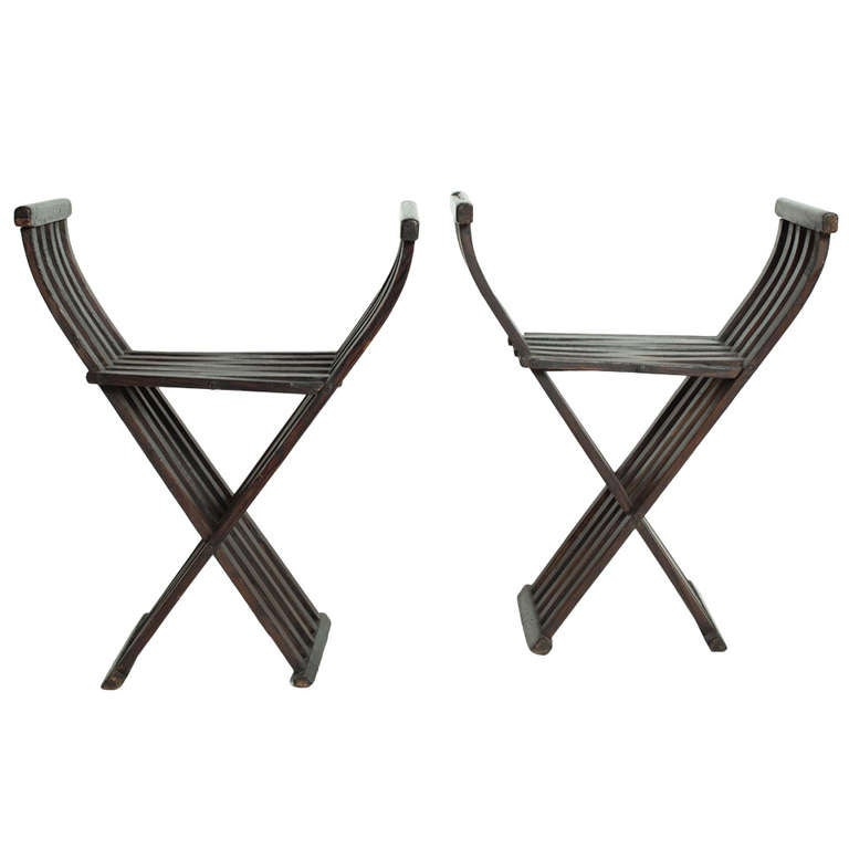 20th c  folding spanish style chairs at 1stdibs