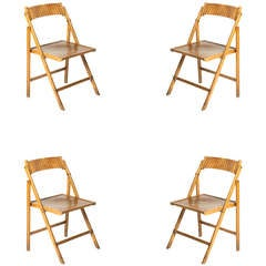 20th c. Set Of Four Folding  Chairs