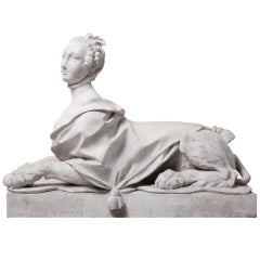 18th Century Madame de Pompadour as Sphinx