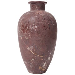 20th c.Vase In Red Marble  Art Decó