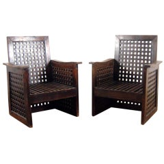 A pair of french armchairs