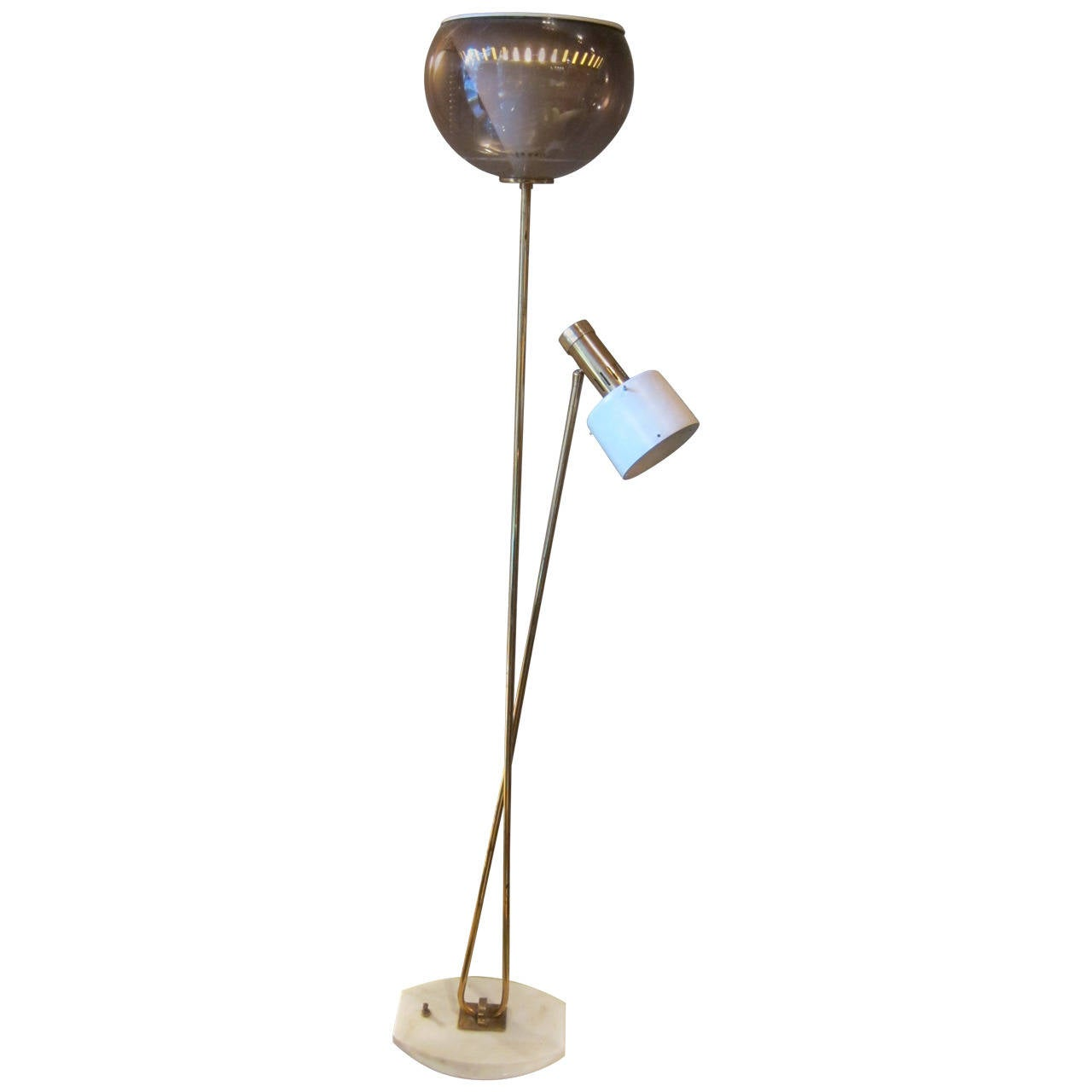 opaline and marble base floor lamp switzerland 1950 at 1stdibs. Black Bedroom Furniture Sets. Home Design Ideas