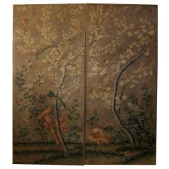 Set Of 5 Italian Chinese Style Watercoloured Room Panels.