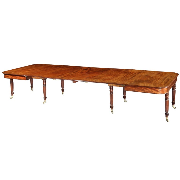 A Very Fine Regency Dining Table At 1stdibs