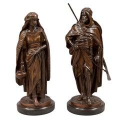 Pair of Figural Orientalist Bronzes by Jean Jules Salmson, 1823-1902