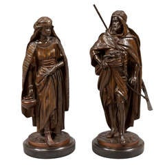 Good Pair of Orientalist Bronzes by Jean Jules Salmson, 1823-1902