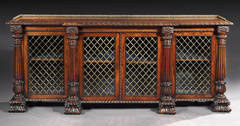 A Fine Bookcase Cabinet attributed to Gillows of Lancaster