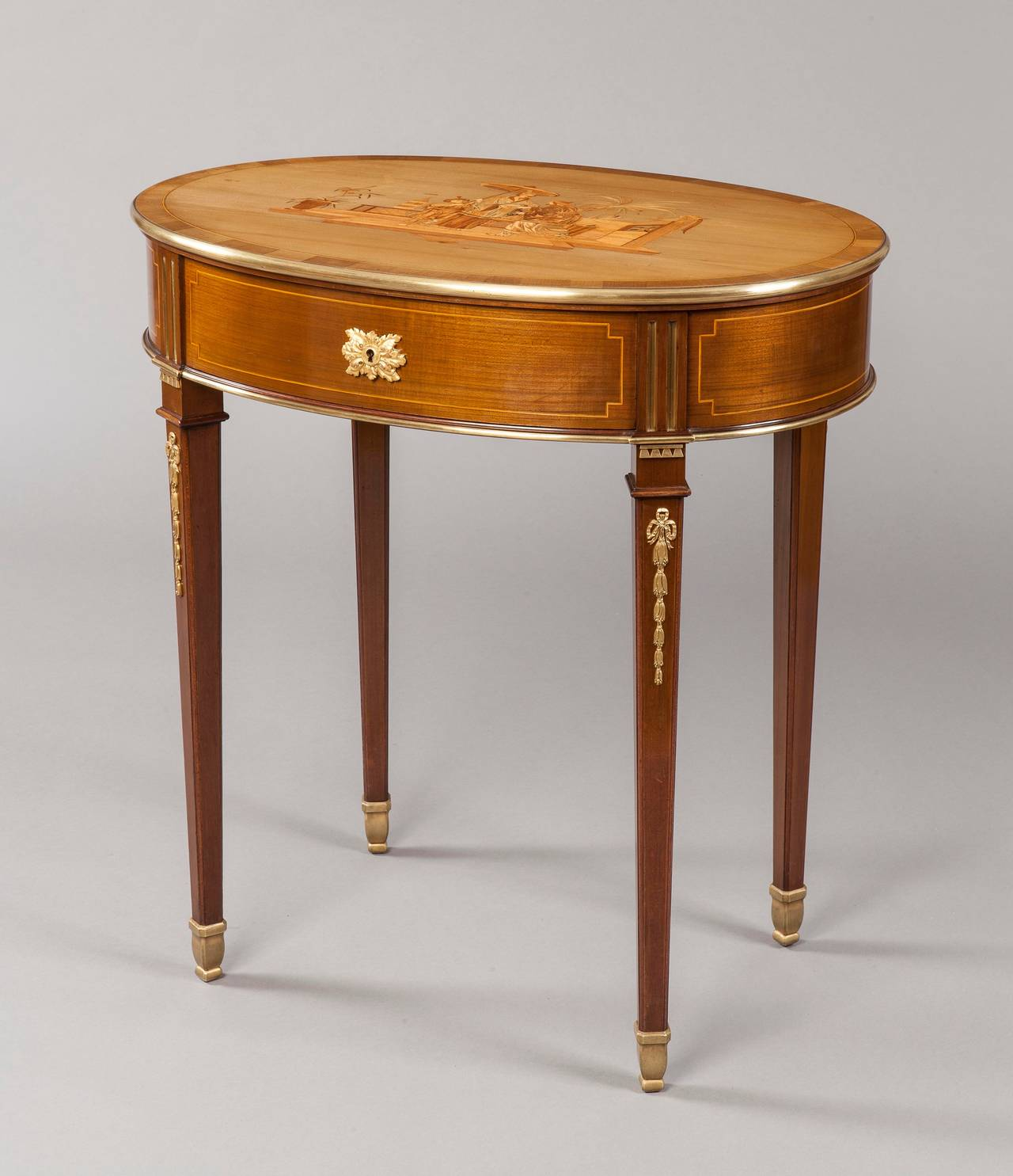 French antique marquetry occasional table at stdibs
