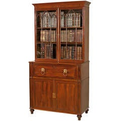 Regency Period Mahogany Secretaire Bookcase