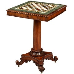 Georgian Period Marble Top Games Table by Gillows of Lancaster