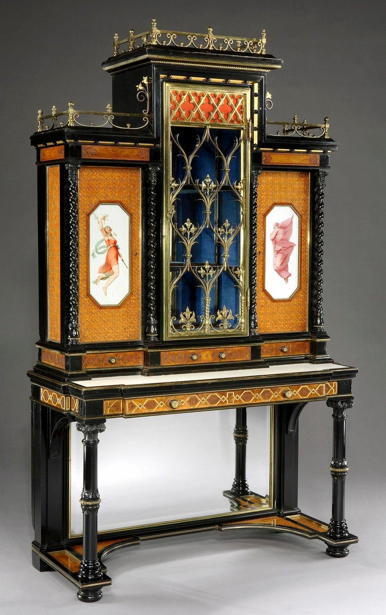 Pair of English Display Cabinets in the Renaissance Revival Style 3