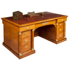 A Fine Antique Library Desk in the Empire Manner by Krieger of Paris
