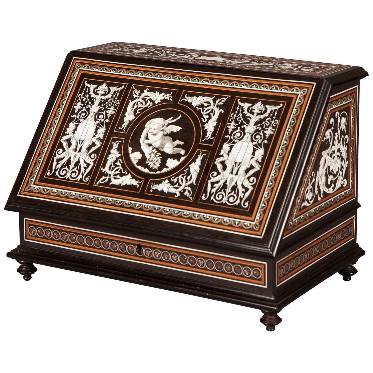 19th Century Italian Stationary Box in the Renaissance Revival Stye
