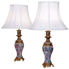 Fine Pair of Chinese Baluster Form Lamps