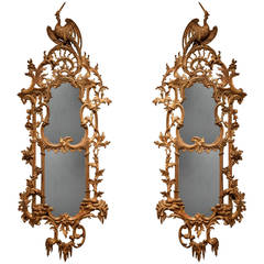 Pair of Giltwood Antique Mirrors