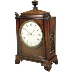 A Fine Regency Antique Bracket Clock in the taste of Thomas Hope