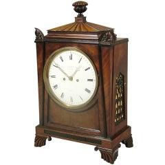 A Fine Regency Antique Bracket Clock in the Taste of Thomas Hope