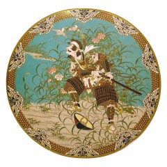An Antique Japanese Cloisonne Charger