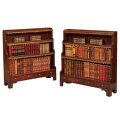 Pair of Antique Open Bookcases