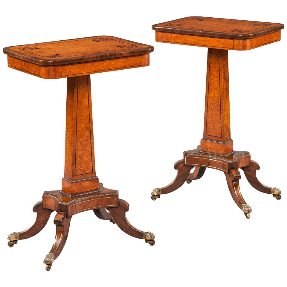 Pair of British Regency Period Occasional Tables