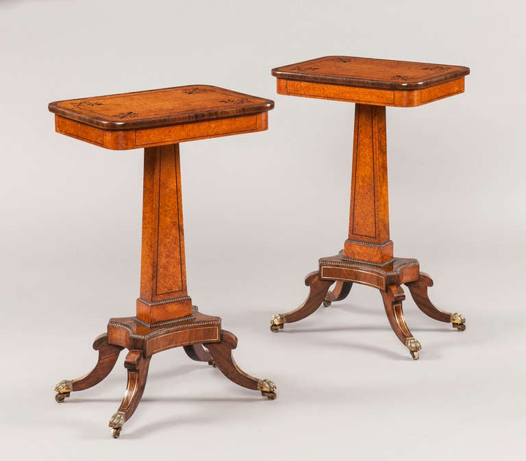 A pair of antique Regency occasional tables in the manner of Trotter of Edinburgh