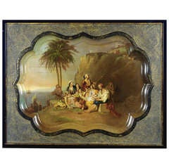 English 19th Century Decorative Tray by Sir Charles Lock Eastlake