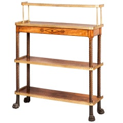 Antique English Mahogany Etagere or Stand with Shelves