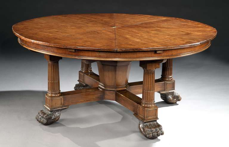 A very rare antique jupe s extensible mechanical action for Dining table extensible