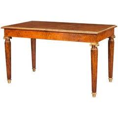Regency Period Amboyna and Ormolu Writing Table