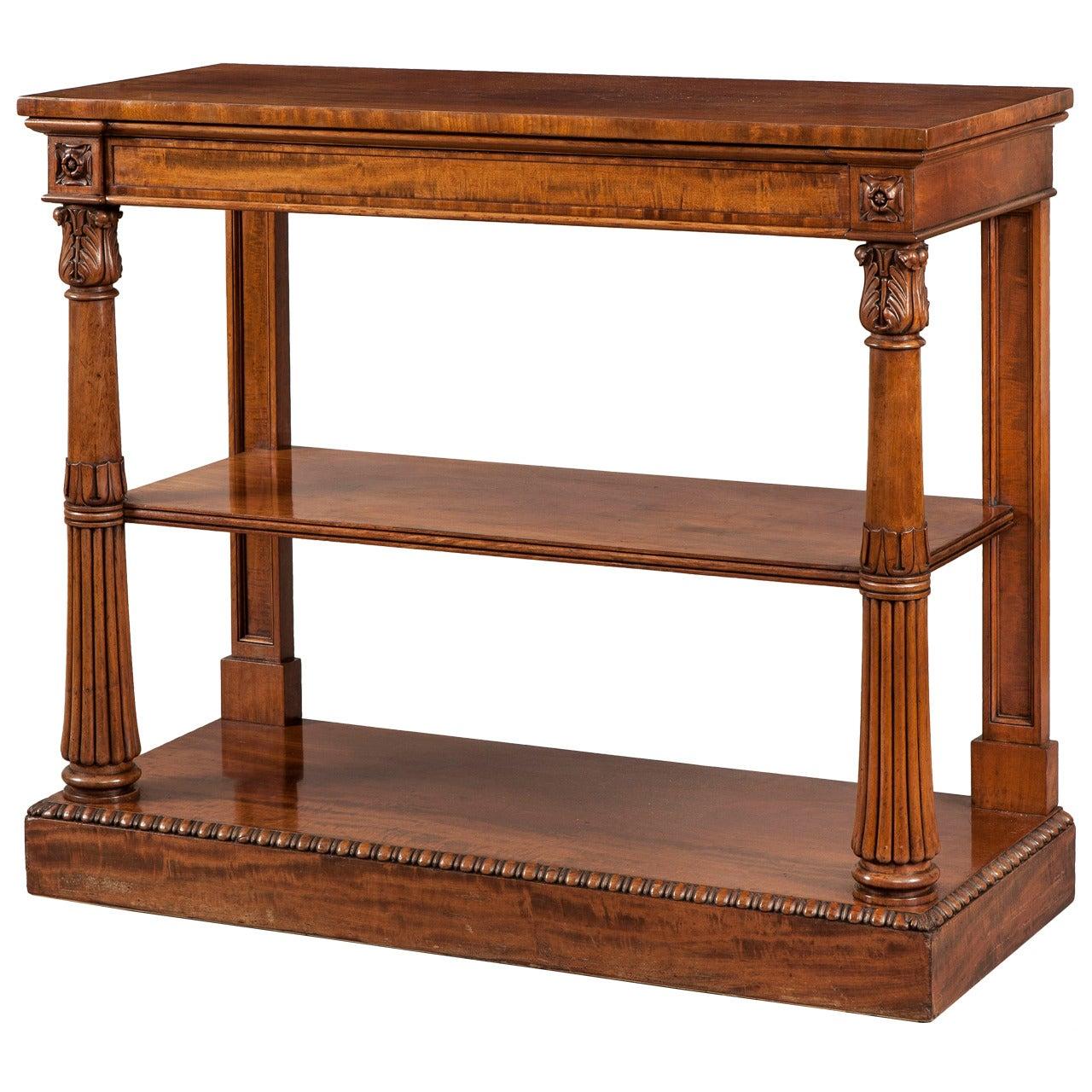 English 19th Century Mahogany Console Table
