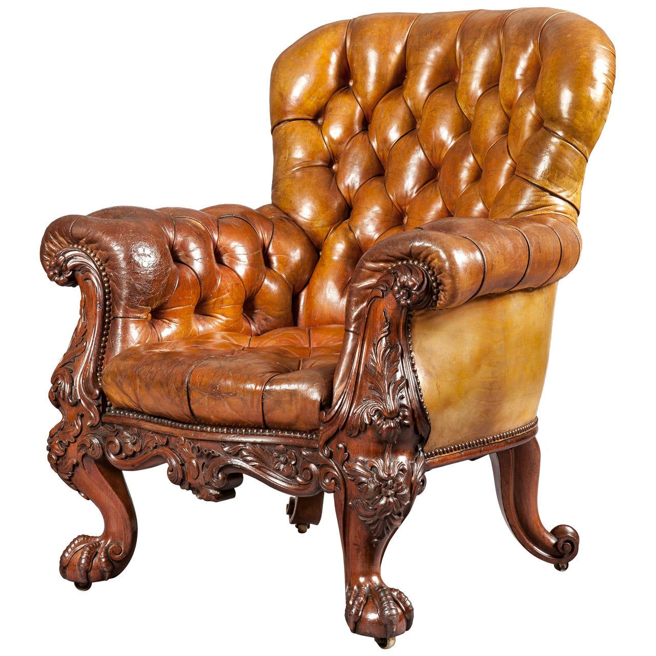 Exceptionnel Gentlemanu0027s Leather Library Chair Firmly Attributed To Gillows Of Lancaster  For Sale