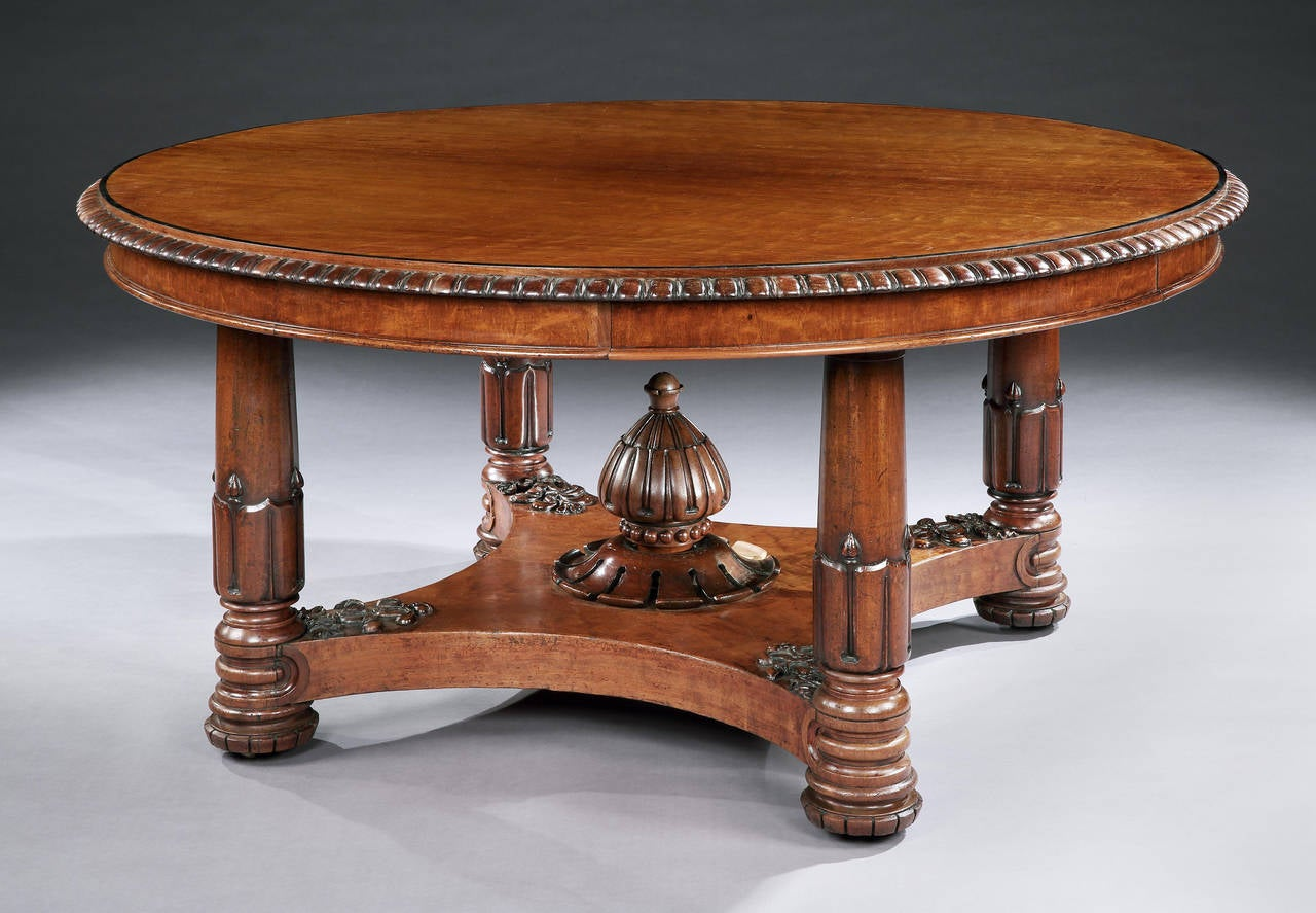 Circular Regency Dining Table Of Large Size At 1stdibs