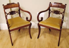 Pair of Regency Period Mahogany Armchairs