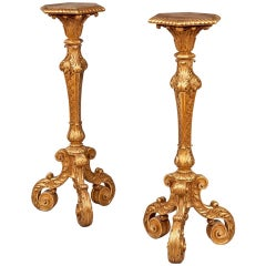 Pair of English Giltwood Stands or Pedestals