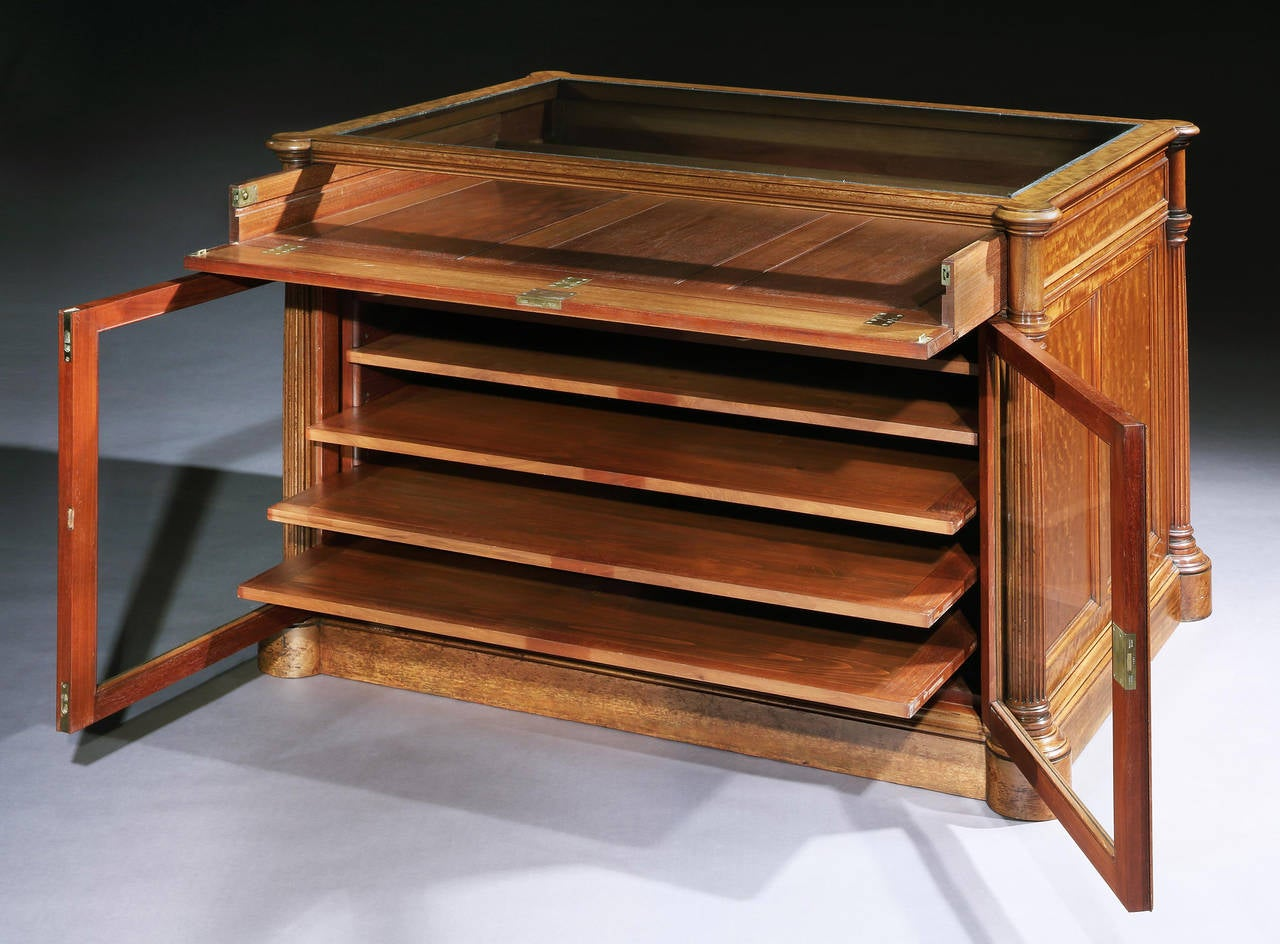 Rare English Mahogany Library Folio Cabinet at 1stdibs