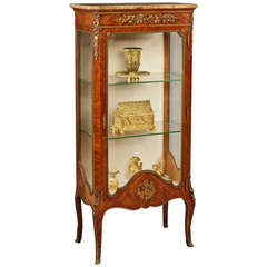 19th Century French Vitrine of Kingwood and Gilt Bronze Mounts