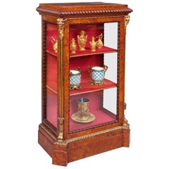 19th Century Ormolu and Amboyna Cabinet