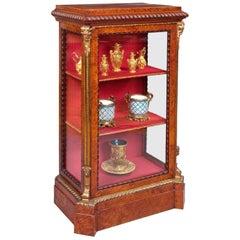 19th Century Ormolu and Amboyna Cabinet
