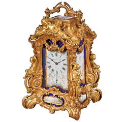 Antique Ormolu and Porcelain Carriage Clock