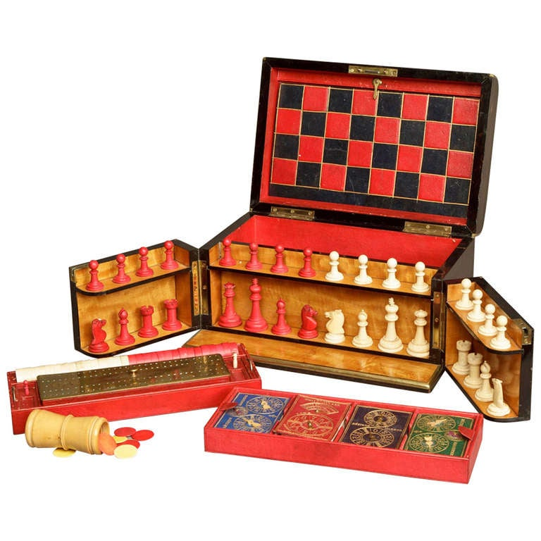 19th Century English Games Compendium Set For Sale