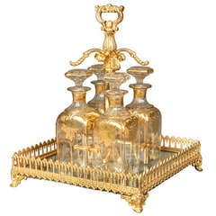 19th Century French Ormolu and Crystal Drinks Set