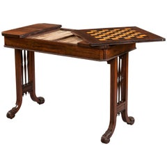 George IV Period Games Table Attributed to Gillows of Lancaster