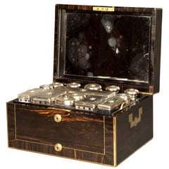 Antique Victorian Coromandel and Brass Bound Dressing Case by Asprey