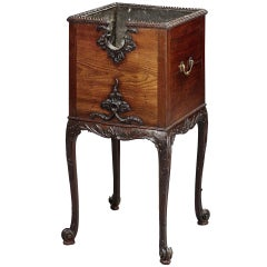 English 19th Century Mahogany Drinks Stand or Jardinière in the Georgian Style