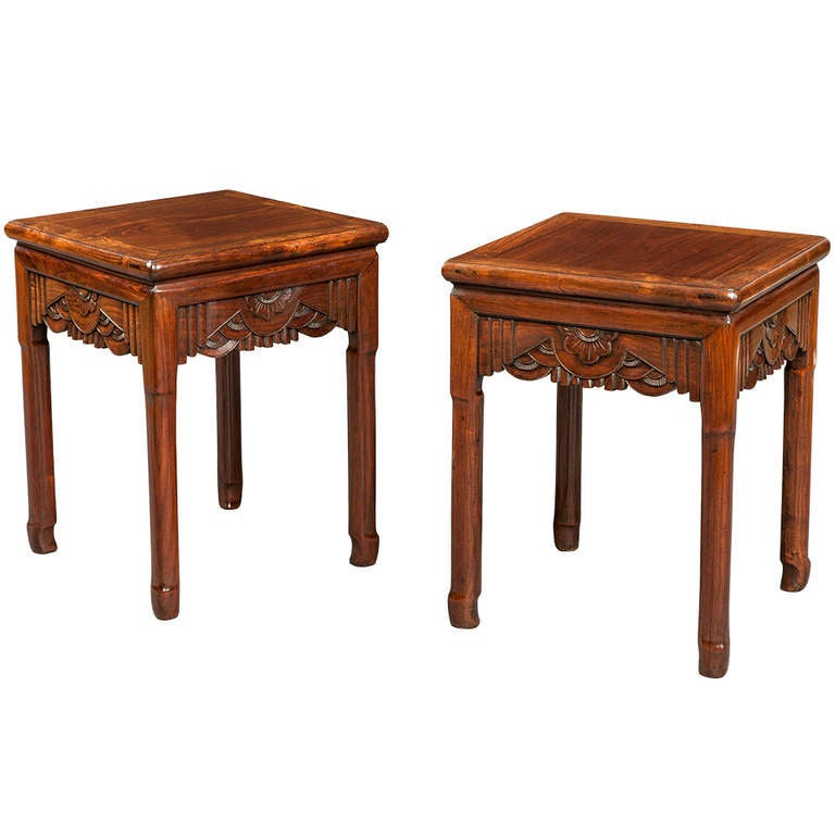 Pair of chinese end tables 20th century for sale at 1stdibs for Antique chinese tables for sale