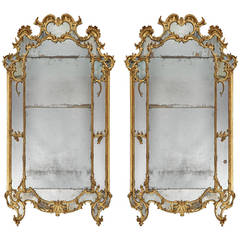 Pair of Italian Mid-18th Century Pier Mirrors