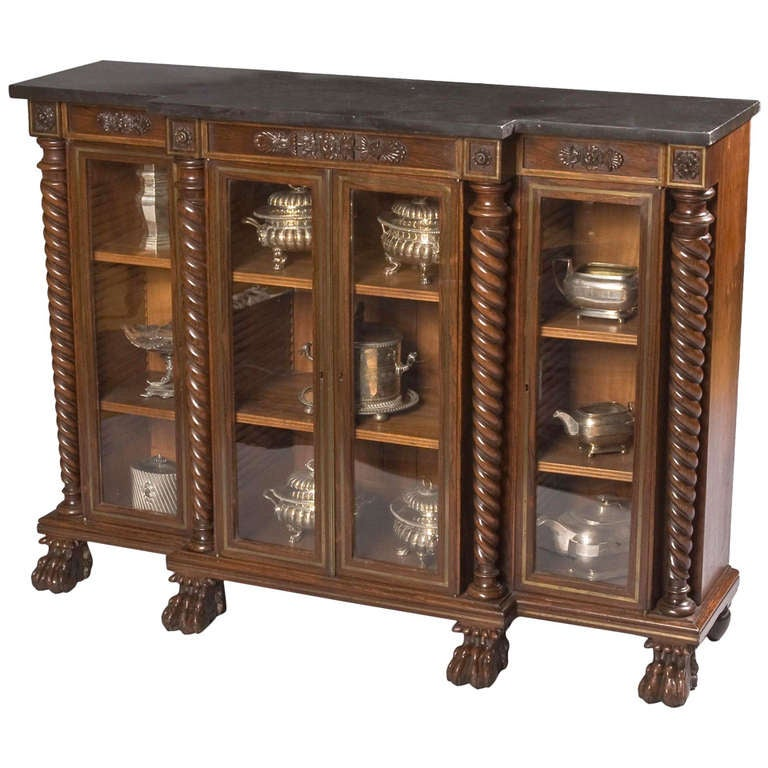 George IV Display Cabinet of Small Size For Sale