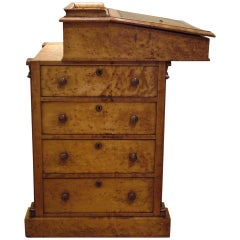 English Maple Davenport Desk of the Late Georgian Period