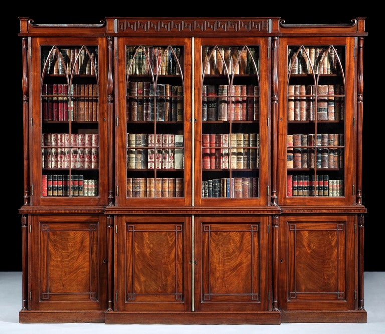 A Very Fine Antique Library Bookcase By Gillows Of