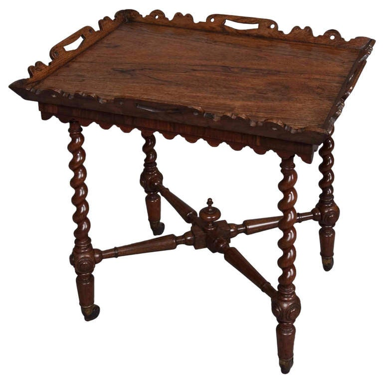 English William IV Period Tray Top Side Table